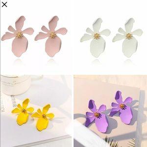New Fashion Boho Big Flowers Ear Stud Earrings